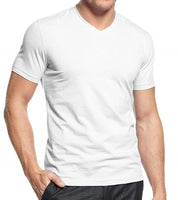Men's 100% Cotton Adult T-Shirt, V-Neck 2-Pack