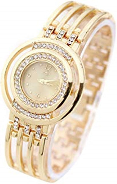 Luxurious Women's Watches Fashion Strap Bracelet Watch Round Dial