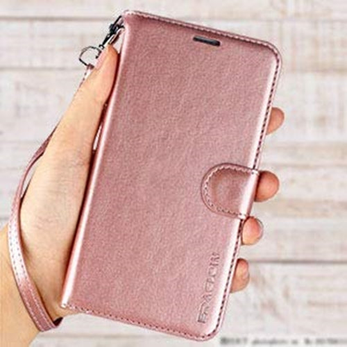 cheap for discount c5d77 707b8 iPhone XR Case, ERAGLOW Luxury PU Leather Wallet Flip Protective Phone Case  Cover with Card Slots and kicktand for iPhone XR 6.1