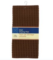 Brown Microfiber Dish Drying Mats 1 pics