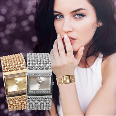 Gorgeous Women's Watches Stainless Steel Quartz Watch Rhinestone Crystal Analog Wrist Watch