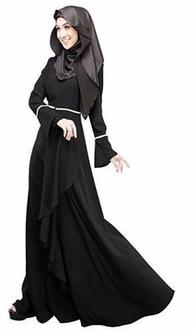 Women Fashion Abaya Flouncing