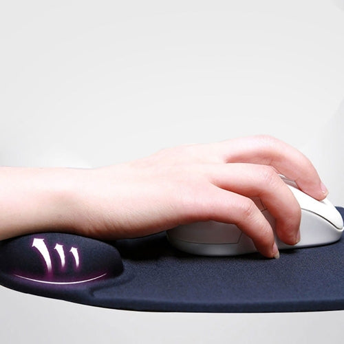 Comfortable Wrist Rest Mouse Pad (Black)