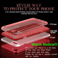 3 Layers Drop Proof Glitter Case for iphone XS, MAX Protective Cover
