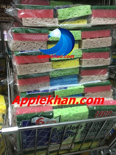 Heavy Duty Dish Cleaning Sponge Use for Kitchens, Bathroom & More
