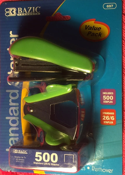 Green Mini Stapler Set  Includes 1 Staplers, 1 Staple Remover Claw and 1 Pack of 500 Staples