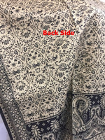 Kashmiri Shawl-Scarf 100% Pure Export Quality Color Black