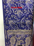 Kashmiri Shawl 100% pure Export Quality Color Blue