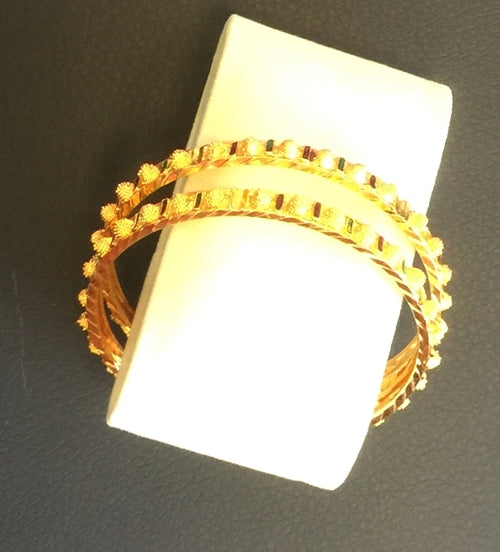 Bangle Gold Color Bracelets Size 2*12