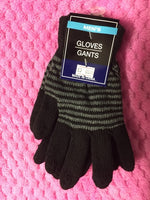 Black strip Gloves
