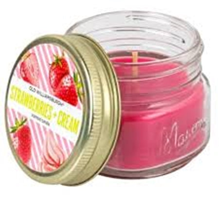 Strawberries + Cream Scented Candles