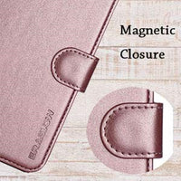 iPhone XR Case, ERAGLOW Luxury PU Leather Wallet Flip Protective Phone Case Cover with Card Slots and kicktand for iPhone XR 6.1""