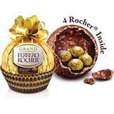 Ferrero Rocher Fine Hazelnut Chocolates, 18 Piece Gift Box,