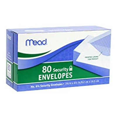 Security letter envelopes