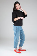 The Petite Dolman Sleeve Boyfriend Tee