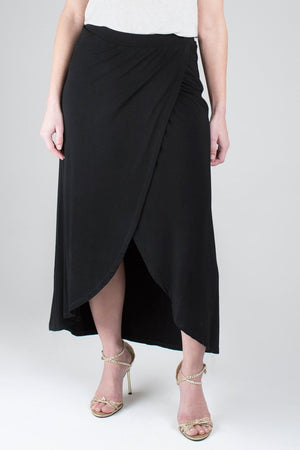 The Petite Tulip Wrap Maxi Skirt