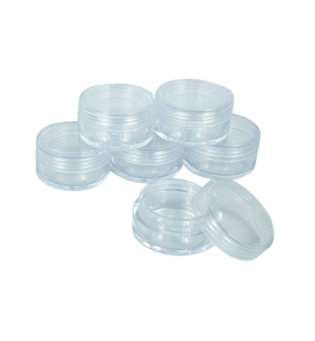 10ml Clear Cream Containers (6 pcs)