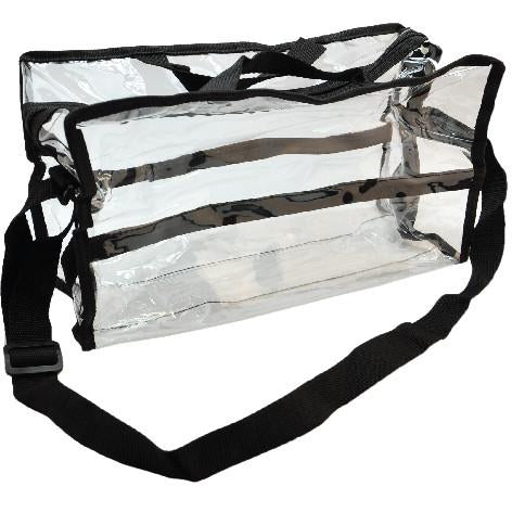 Clear Plastic Tote with Shoulder Strap