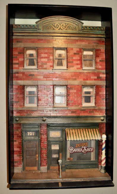 3-Dimensional Barber Shop Building Wall Hanging
