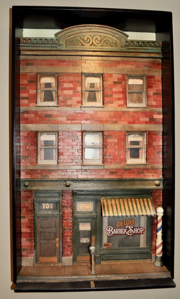 SOLD 3-Dimensional Barber Shop Building Wall Hanging