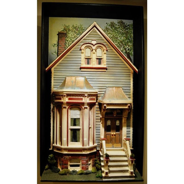 3-Dimensional Victorian Home Bay Window Wall Art Hanging