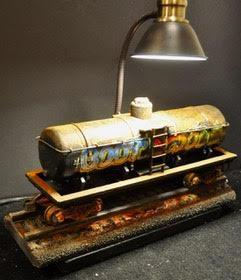 Side Track Railroad Tank Car Lamp