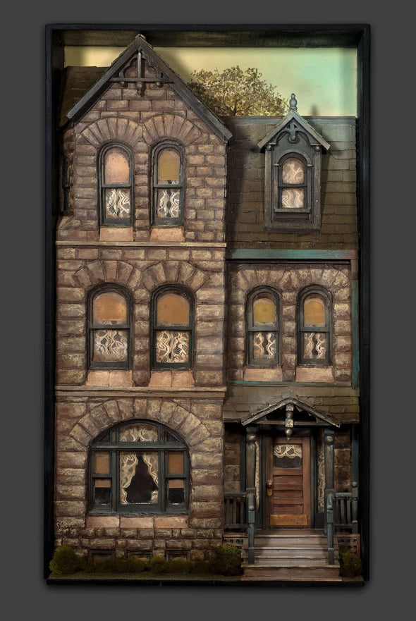 3-Dimensional Victorian Home Building Wall Art Handmade
