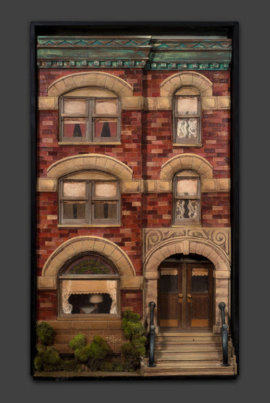 3-Dimensional Brick Archway Windows Wall Art Hanging