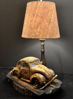 VW Bug Van Lamp
