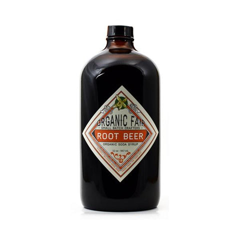 organicfair root beer soda syrup big bottle
