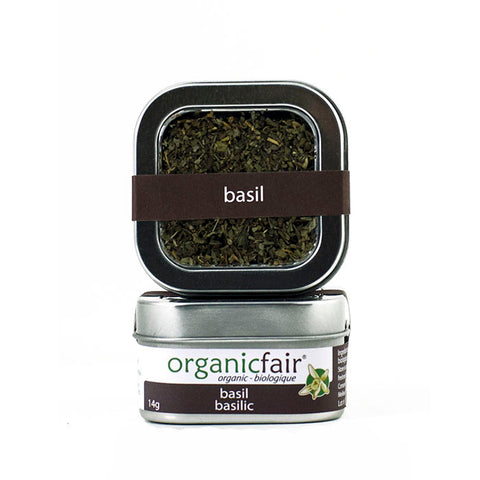 organicfair basil leaves tin
