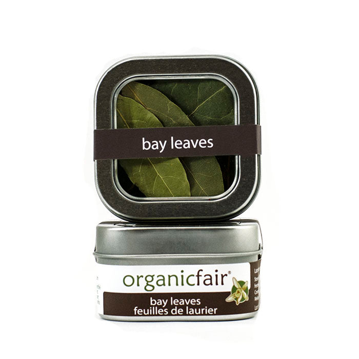 organicfair bay leaves tin