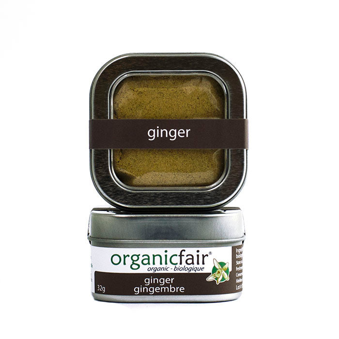 organicfair ginger powder tin
