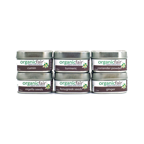 organicfair taste of india spice set front