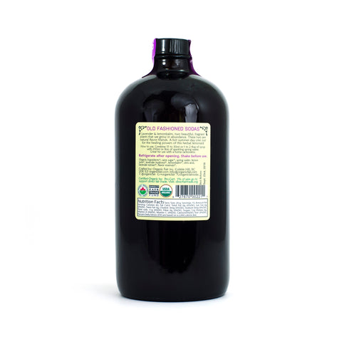 organicfair lavender lemonaid soda syrup back label