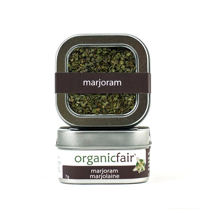 organicfair marjoram leaves tin