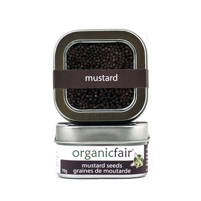 organicfair mustard seeds tin