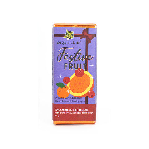 Festive Fruit Organic Dark Chocolate Bar