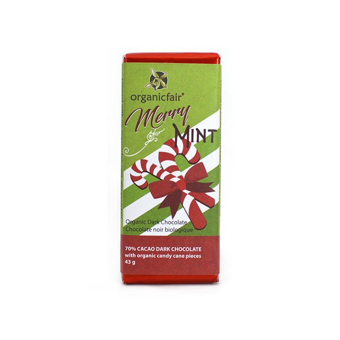 Merry Mint Organic Dark Chocolate Bar