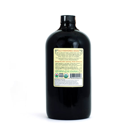 organicfair root beer soda syrup back label