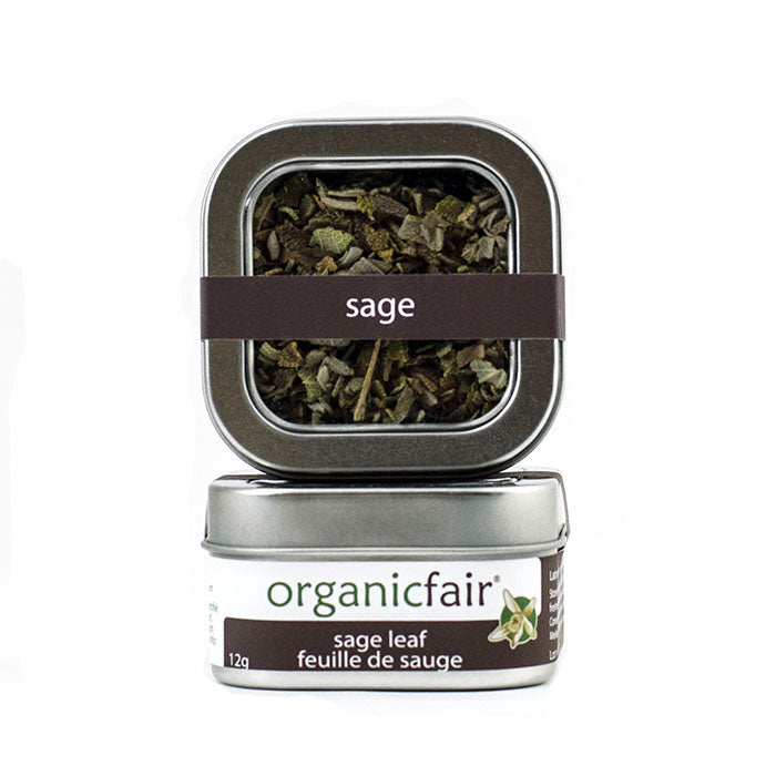 organicfair sage leaves tin