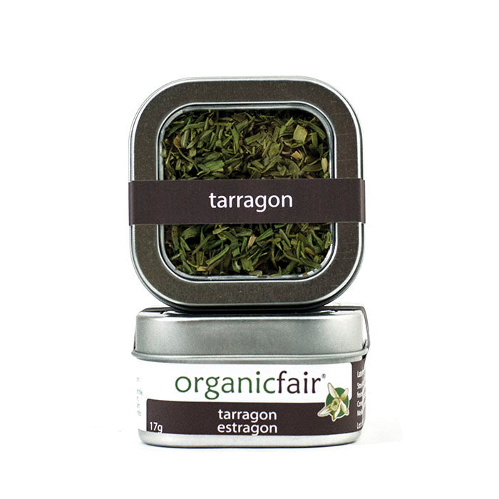 organicfair tarragon leaves tin