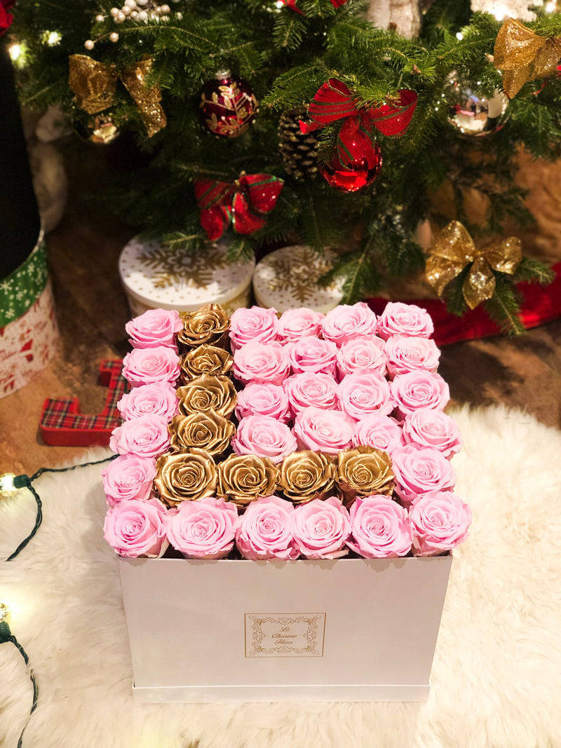 Large Square Box with Real Long Lasting Roses