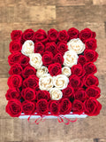 Initial Large Square Rose Box