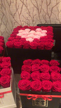36-43 Everlasting Roses In a Large Square Box