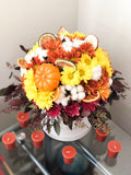 Small Round Box - Mix of Seasonal Flowers