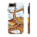 Brown Octopus Vintage Map Case Mate Tough Phone Cases Iphone 7 Plus 8