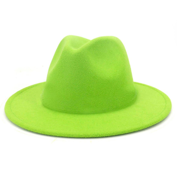 Solid Lime green FEDORA