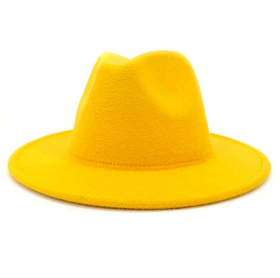 Solid Yellow FEDORA