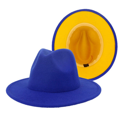 Royal Blue/ Mustard FEDORA